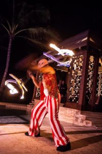 Male Circus Fire Performer